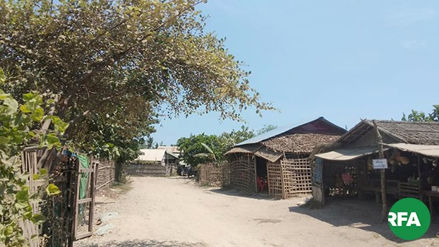 Structures built in Sittwe township's Seyton Su ward in Myanmar's Rakhine state are shown in a file photo.