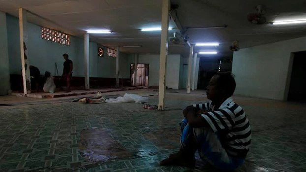 A temporary prayer hall in Myanmar's Yangon region officially sanctioned for use by Muslims to pray during the holy Islamic month of Ramadan that was shuttered amid threats from Buddhist nationalists, May 16, 2019.