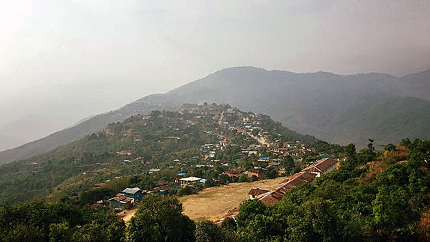 A view of Matupi township in western Myanmar's Chin state in an undated photo.