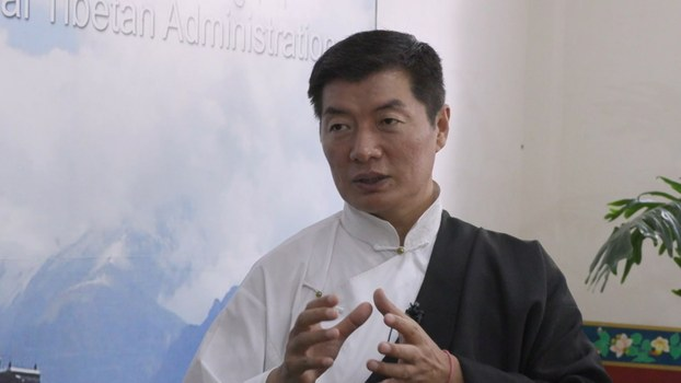 Sikyong Lobsang Sangay, president of the Central Tibetan Administration, is interviewed by RFA's Tibetan Service in Dharamsala, India, June 20, 2020.