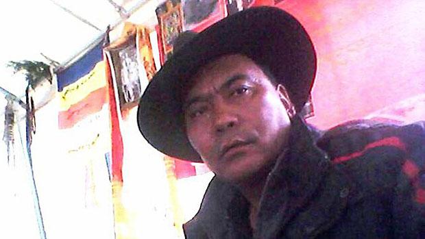 Jailed Tibetan writer Tsegon Gyal is shown in an undated photo.