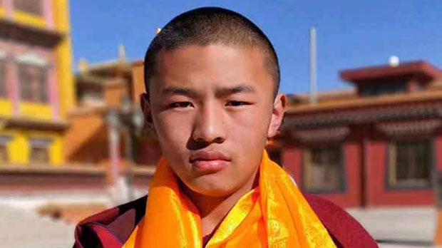 Tibetan protest monk Sangye Gyatso is shown in an undated photo.