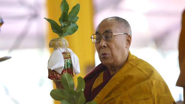 Tibetan spiritual leader the Dalai Lama conducts a blessing ceremony in Bodhgaya, India, Dec. 26, 2018.