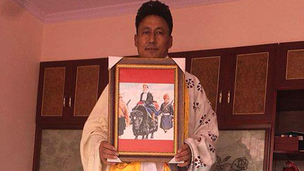 Lodroe Gyatso, also known as Sogkar Lodroe, is shown in an undated photo.