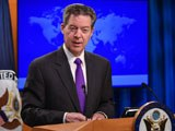 Ambassador-at-Large for International Religious Freedom Sam Brownback releases of the 2017 Annual Report on International Religious Freedom at the US Department of State in Washington, DC, May 29, 2018.