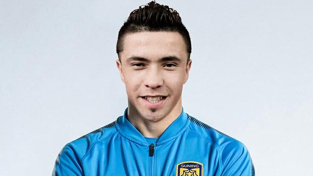 Erfan Hezim in an official photo issued by Jiangsu Suning F.C.