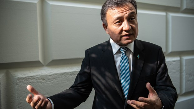 Dolkun Isa, president of the World Uyghur Congress, at the US Capitol in Washington, June 4, 2019.