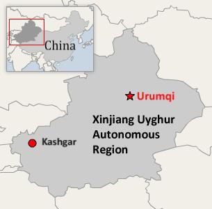 Yengishahar and Maralbeshi counties are located in Xinjiang's Kashgar prefecture.