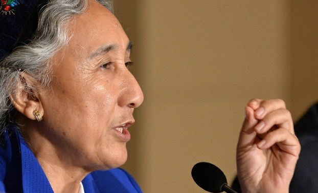 Rebiya Kadeer at a press conference in Tokyo, June 20, 2013.