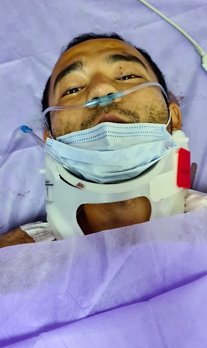 Yusufjan Amet recovers in his hospital bed in Istanbul, Nov. 3, 2020.
