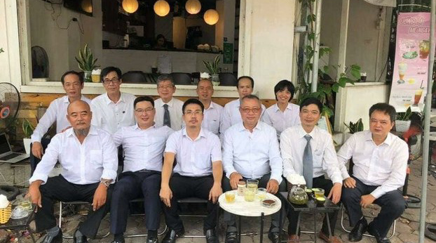 Defense attorneys in Vietnam's Dong Tam trial are shown after court sessions on Sept. 10, 2020.