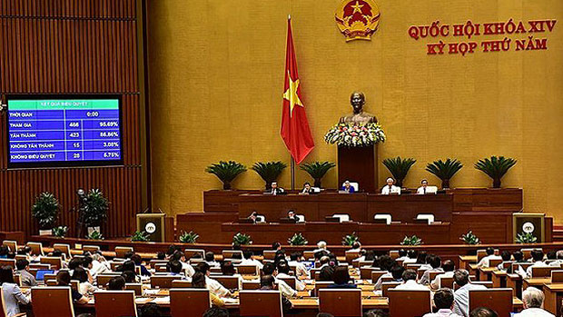 Vietnam's National Assembly passes a 'cyber security' law aimed at tighter online controls, June 12, 2018.