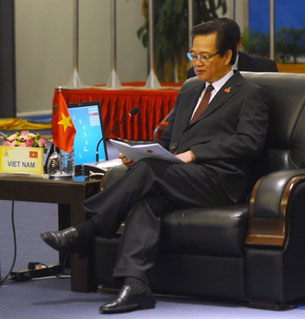 Vietnam Premier Nguyen Tan Dung at ASEAN talks, Oct. 29, 2010.