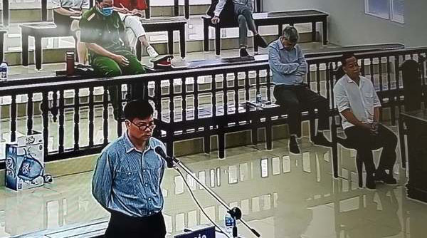 RFA blogger Truong Duy Nhat is shown at his appeal trial in Hanoi, Aug. 14, 2020.