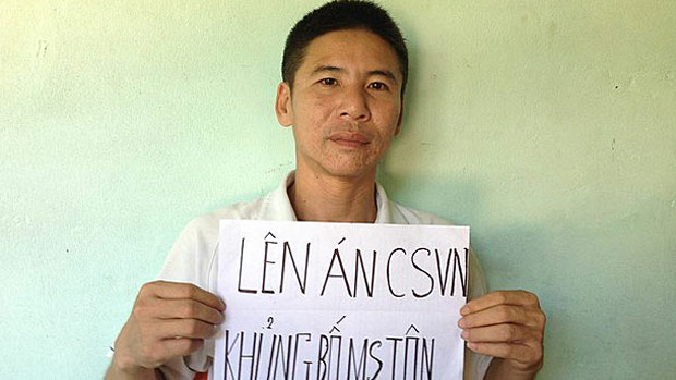 Jailed democracy advocate Nguyen Trung Truc is shown in an undated photo.