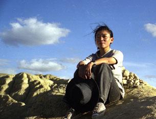 Woeser in the far west of Tibet in 2002.