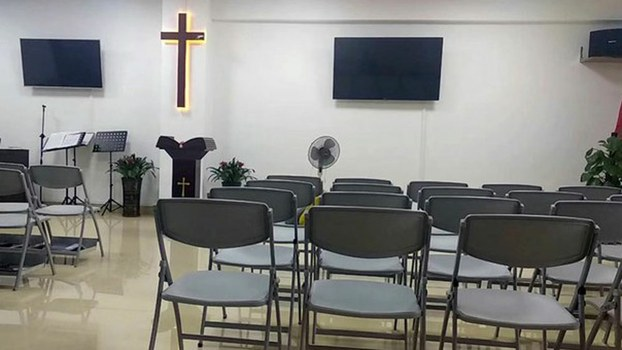 "File photo of an unofficial Protestant ""house church"" in China, congregations that don't follow the Communist Party-controlled official churches and often face harassment and arrest from authorities."