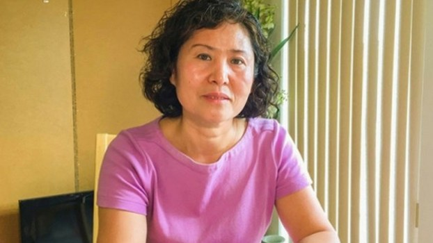 Geng He, wife of human rights lawyer Gao Zhisheng, in undated, recent photo.