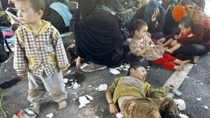 Uyghur women and children are held in detention in Thailand, 2014.